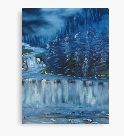 """Winter Scene 5""  by Carter L. Shepard Canvas Print"