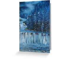 """Winter Scene 5""  by Carter L. Shepard Greeting Card"