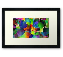 """Colorful Abstract Digital Art-Title"""" Fish Tank Framed Print"""