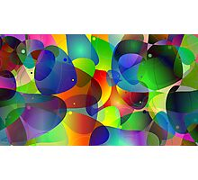 """Colorful Abstract Digital Art-Title"""" Fish Tank Photographic Print"""