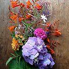 Summer Bouquet on Wood by Barbara Wyeth