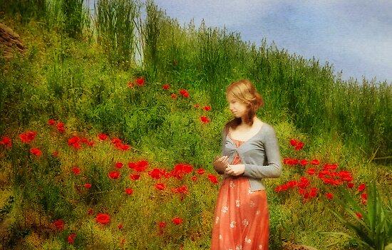 Girl in a Poppy Field by Peter Hammer