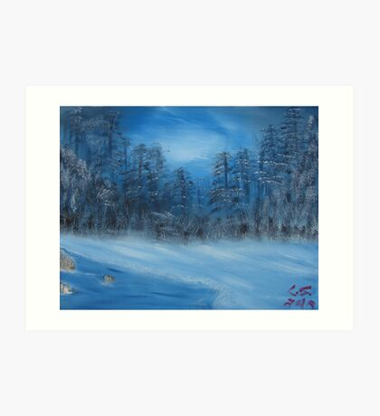 """Winter Scene 4""  by Carter L. Shepard Art Print"