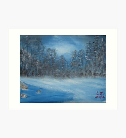 """Winter Scene 2""  by Carter L. Shepard Art Print"