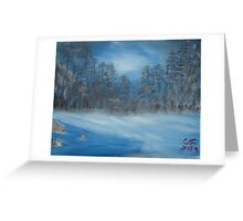 """Winter Scene 2""  by Carter L. Shepard Greeting Card"
