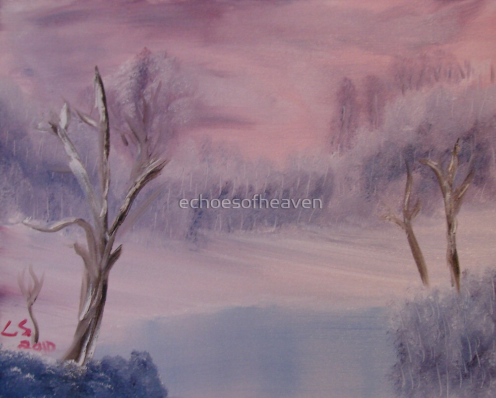 """Winter Scene 1""  by Carter L. Shepard by echoesofheaven"
