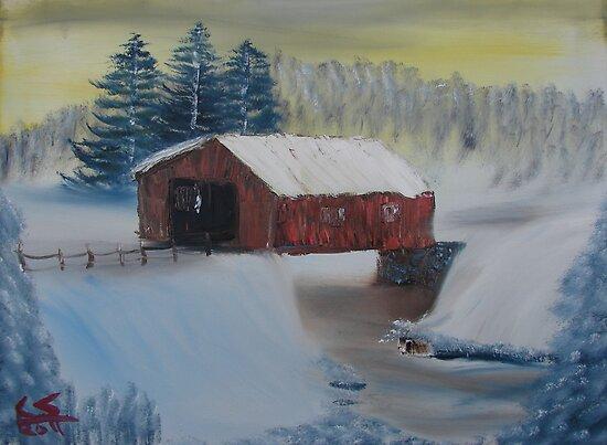 """""""Winter Bridge""""  by Carter L. Shepard by echoesofheaven"""