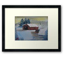"""Winter Bridge""  by Carter L. Shepard Framed Print"
