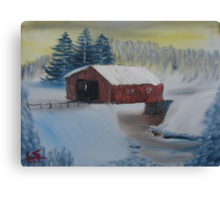 """Winter Bridge""  by Carter L. Shepard Canvas Print"