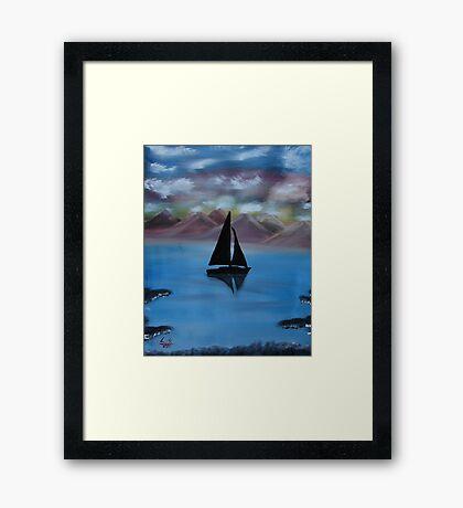 """Sail Away""  by Carter L. Shepard Framed Print"