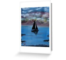 """Sail Away""  by Carter L. Shepard Greeting Card"