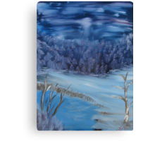 """""""Quiet Winter Night""""  by Carter L. Shepard Canvas Print"""