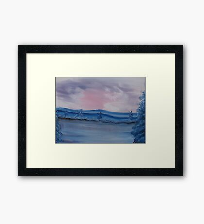 """Pastel Winter""  by Carter L. Shepard Framed Print"