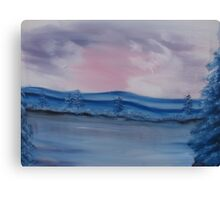 """Pastel Winter""  by Carter L. Shepard Canvas Print"