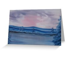 """Pastel Winter""  by Carter L. Shepard Greeting Card"