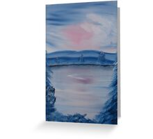 """""""Pastel Winter 2""""  by Carter L. Shepard Greeting Card"""