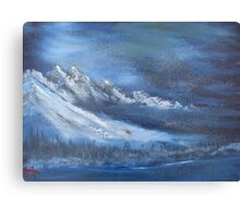 """""""Night Time Snow""""  by Carter L. Shepard Canvas Print"""