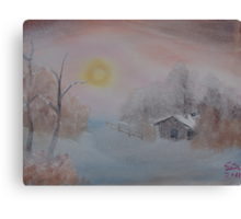 """""""Lighted Winter""""  by Carter L. Shepard Canvas Print"""