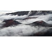Misty Crater Photographic Print