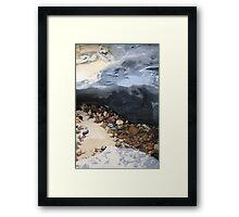 Rainbow Beach Rockpool Framed Print