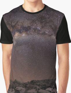 Milky way panorama - Ben Lomond Graphic T-Shirt