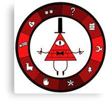 Red Bill Cipher Wheel Canvas Print
