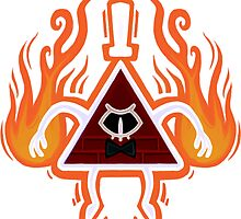 Angry Bill Cipher - Red by Nat Rosser
