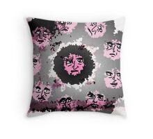 Hippie Heads Throw Pillow