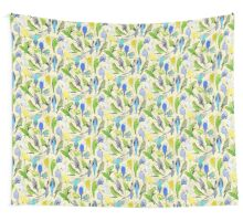 Budgies - Pale Wall Tapestry
