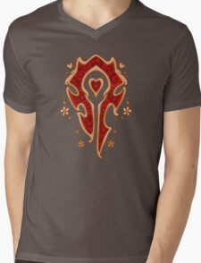 Ornate Battle Crest Mens V-Neck T-Shirt