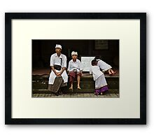 Dressed and Ready II Framed Print