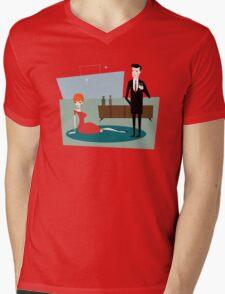 Mad Draper Mens V-Neck T-Shirt
