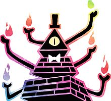 Six-Armed Apocalypse Bill Cipher - Color by Nat Rosser