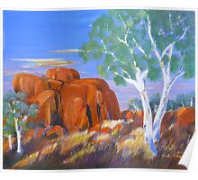 Devils Marbles Northern Territory Morning  Poster
