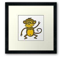 Little Monkey - Year of the Monkey 2016 : Chinese Zodiac Sign Framed Print