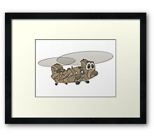 Chinook Helicopter Cartoon Framed Print