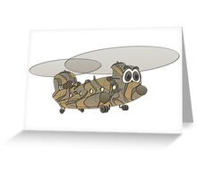 Chinook Helicopter Cartoon Greeting Card