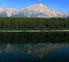 Patricia Lake Panorama by Charles Kosina
