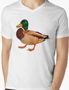 Duck Mens V-Neck T-Shirt