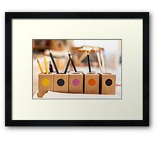 Pencil Colour Framed Print
