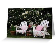 Afternoon Tea Under The Magnolia Tree Greeting Card