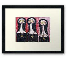 EMBROIDERY HABIT Framed Print