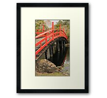 Over the lake Framed Print