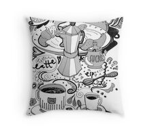 time for braekfast Throw Pillow