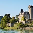 Duingt castle on Annecy lake by Patrick Morand