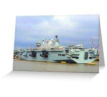 HMS Ocean. Greeting Card