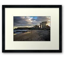 The Empty Volleyball Nets - Newcastle Beach Framed Print