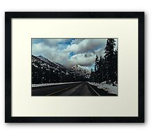 Driving in the North Cascades Framed Print