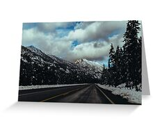 Driving in the North Cascades Greeting Card