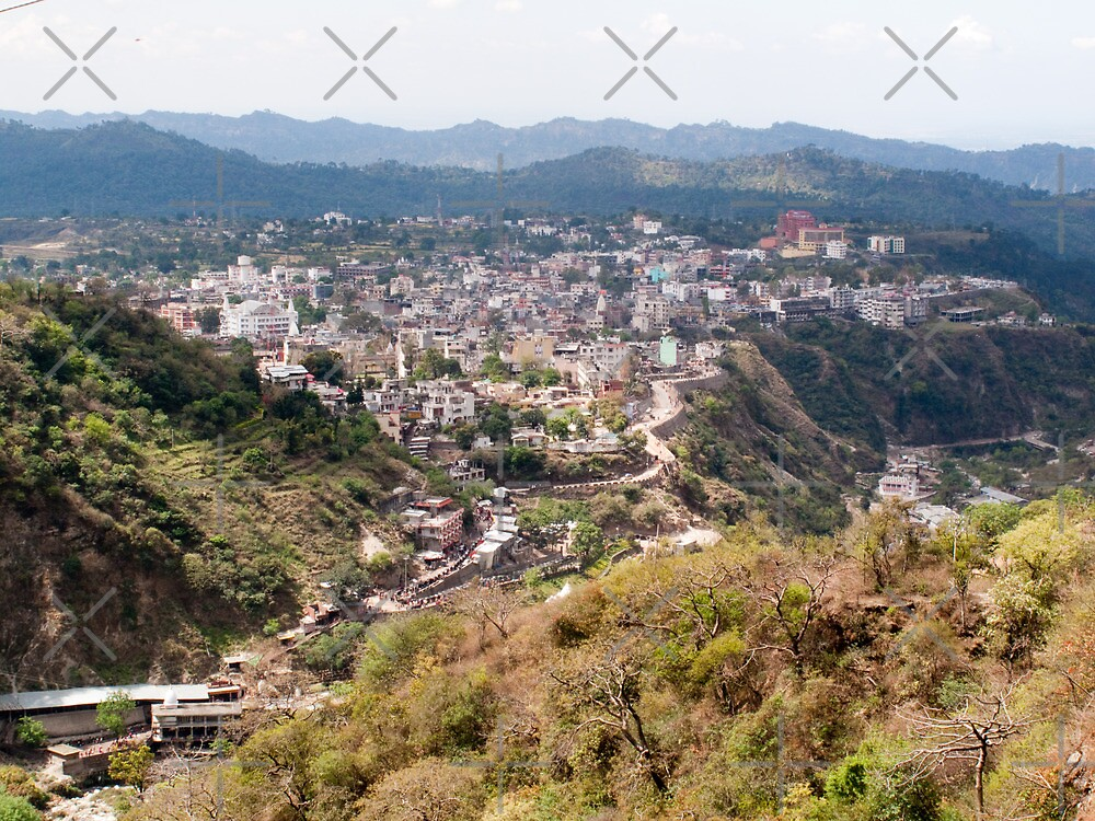 View of Katra township while on the pilgrimage to the Vaishno Devi Shrine in Kashmir in India by ashishagarwal74